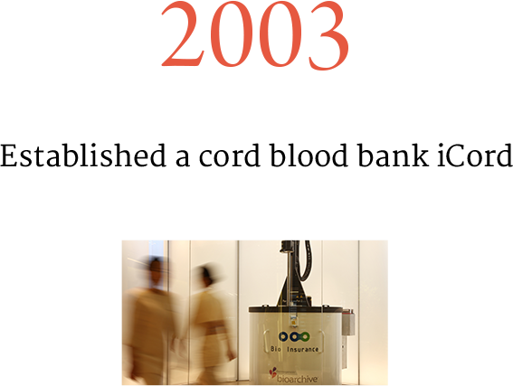 2003 Established a cord blood bank iCord